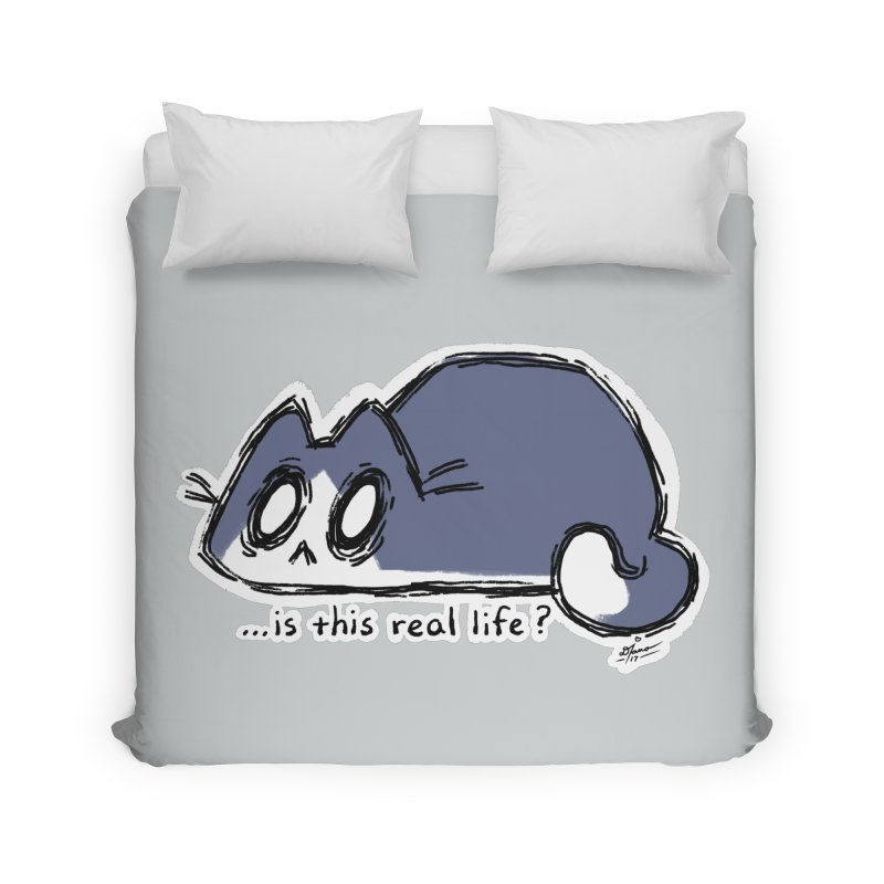 Under PURRRessure Home Duvet by dianasprinkle's Artist Shop