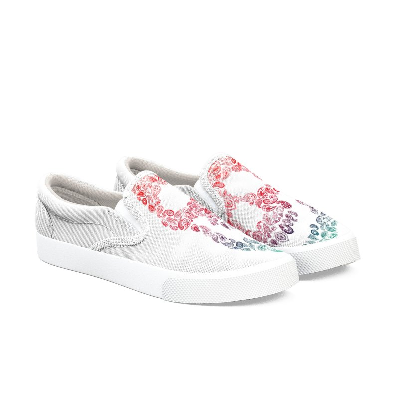 Death By Paisley Women's Slip-On Shoes by Dianne Delahunty's Artist Shop