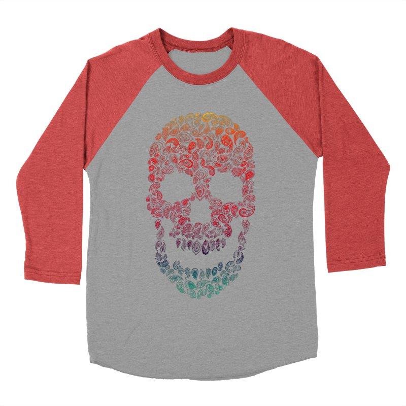 Death By Paisley Men's Baseball Triblend T-Shirt by Dianne Delahunty's Artist Shop