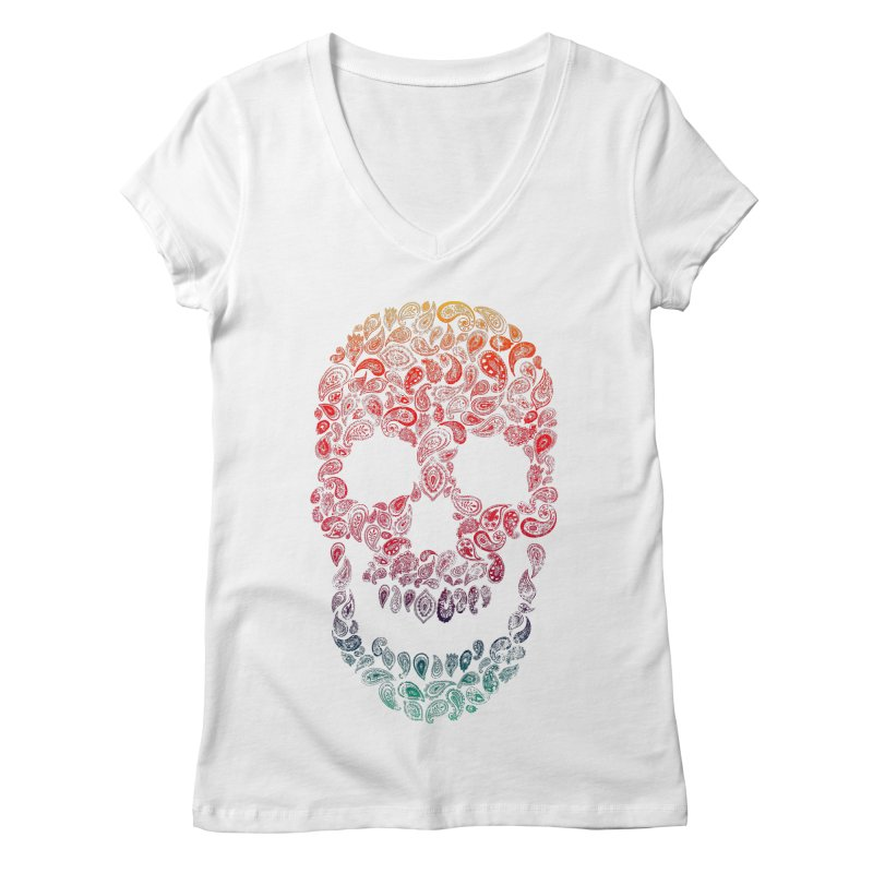 Death By Paisley Women's V-Neck by Dianne Delahunty's Artist Shop
