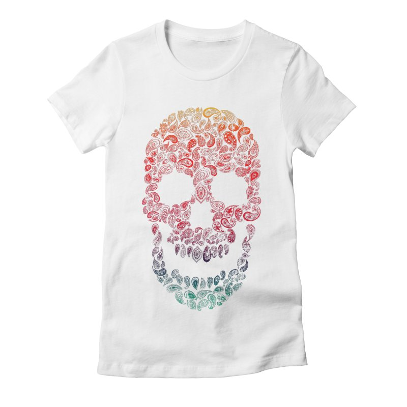 Death By Paisley Women's Fitted T-Shirt by Dianne Delahunty's Artist Shop