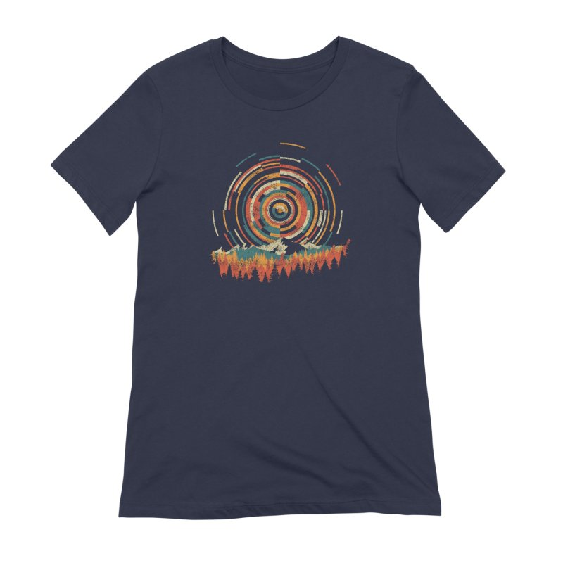 Geometry of Sunrise Women's Extra Soft T-Shirt by Dianne Delahunty's Artist Shop