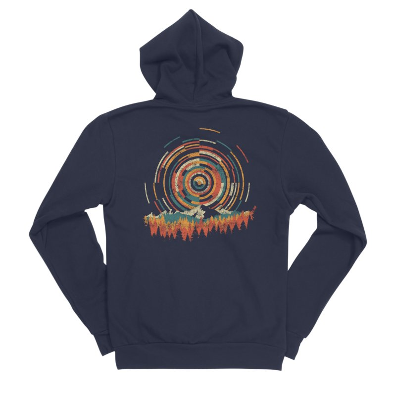 Geometry of Sunrise Men's Sponge Fleece Zip-Up Hoody by Dianne Delahunty's Artist Shop
