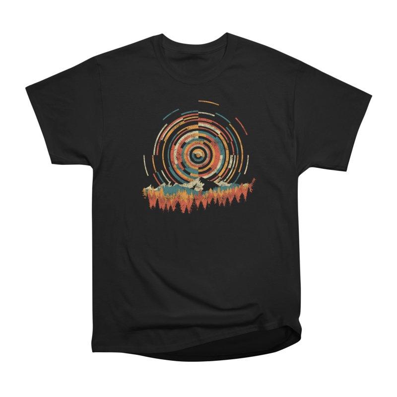 Geometry of Sunrise Men's Heavyweight T-Shirt by Dianne Delahunty's Artist Shop