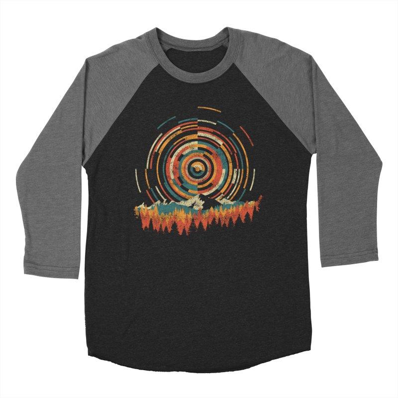 Geometry of Sunrise Men's Baseball Triblend T-Shirt by Dianne Delahunty's Artist Shop
