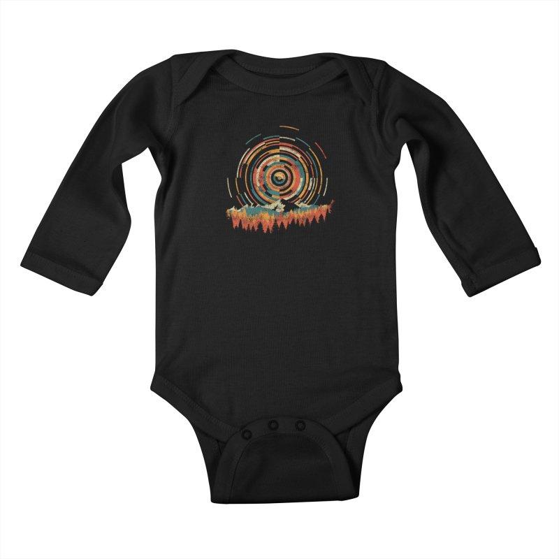 Geometry of Sunrise Kids Baby Longsleeve Bodysuit by Dianne Delahunty's Artist Shop