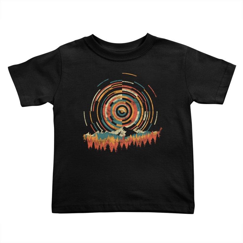 Geometry of Sunrise Kids Toddler T-Shirt by Dianne Delahunty's Artist Shop