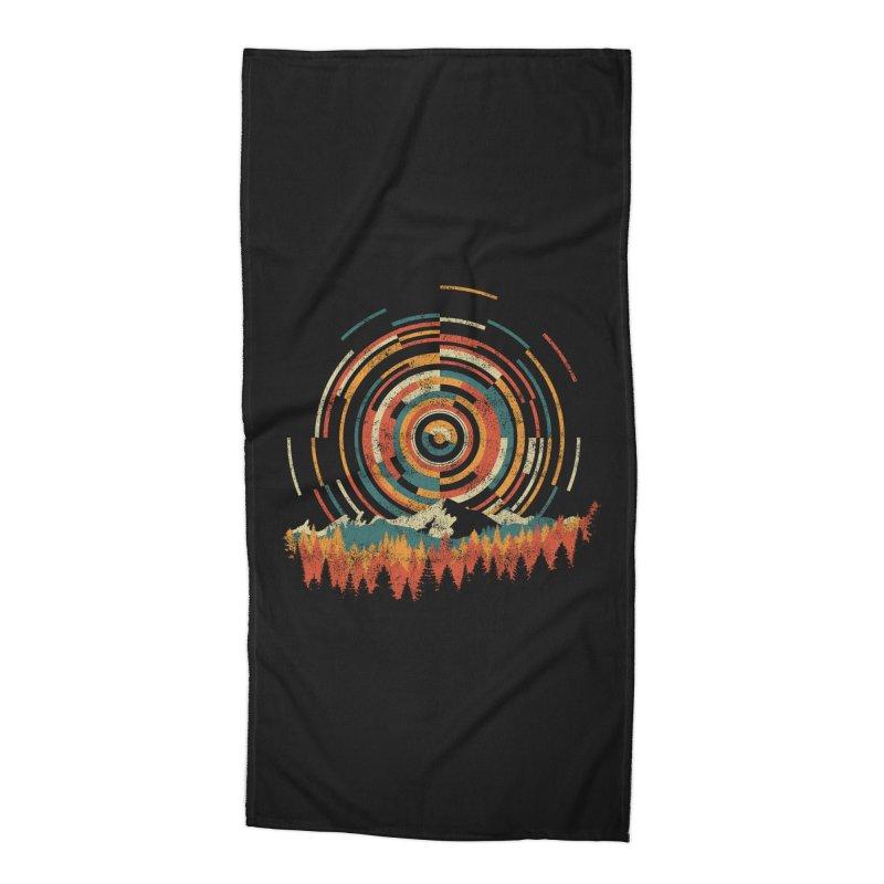 Geometry of Sunrise Accessories Beach Towel by Dianne Delahunty's Artist Shop