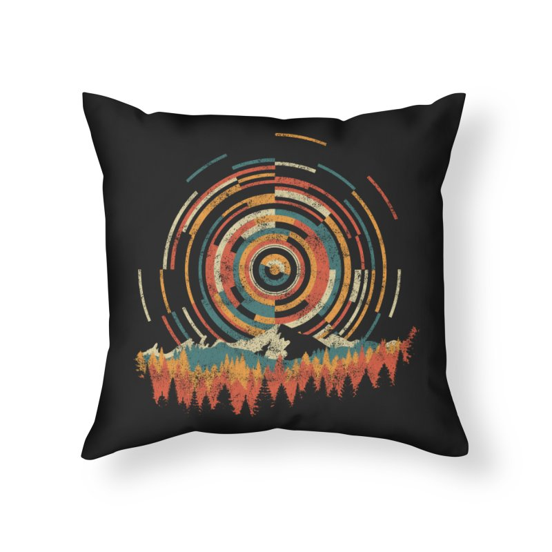 Geometry of Sunrise Home Throw Pillow by Dianne Delahunty's Artist Shop