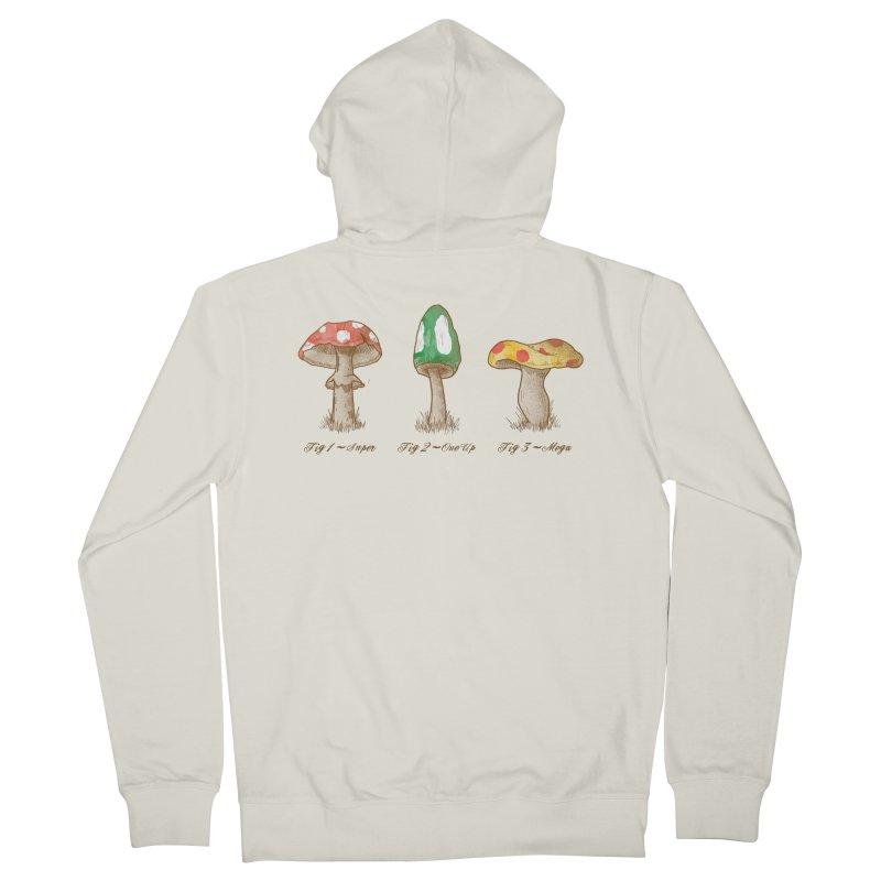Mario Mycology Men's French Terry Zip-Up Hoody by Dianne Delahunty's Artist Shop