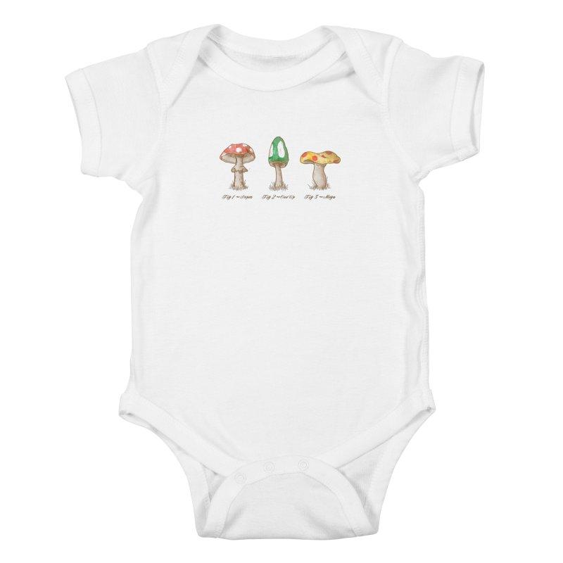 Mario Mycology Kids Baby Bodysuit by Dianne Delahunty's Artist Shop