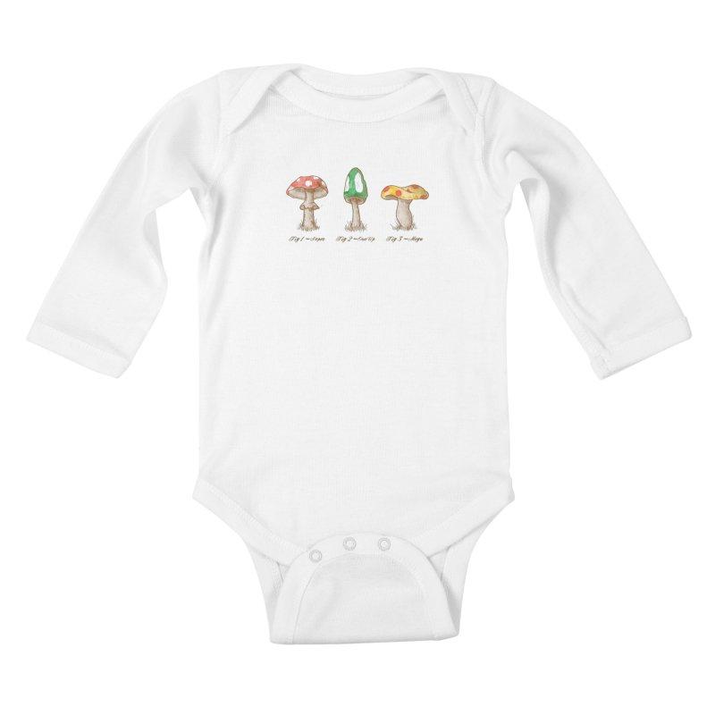 Mario Mycology Kids Baby Longsleeve Bodysuit by Dianne Delahunty's Artist Shop