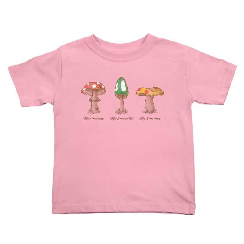 Mario Mycology Kids Toddler T-Shirt by Dianne Delahunty's Artist Shop
