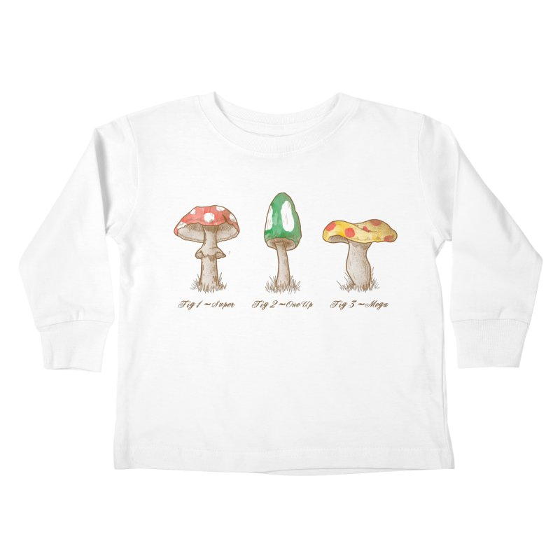 Mario Mycology Kids Toddler Longsleeve T-Shirt by Dianne Delahunty's Artist Shop