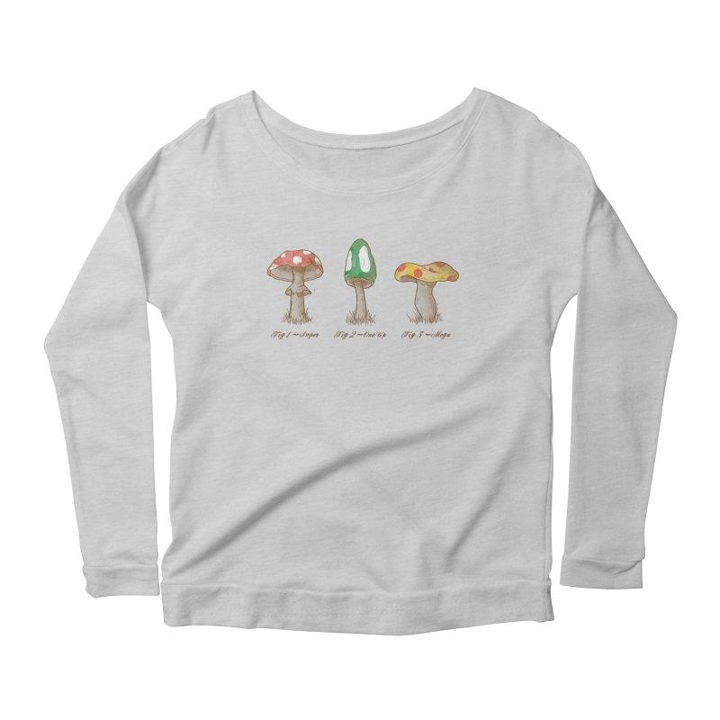 Mario Mycology Women's Scoop Neck Longsleeve T-Shirt by Dianne Delahunty's Artist Shop