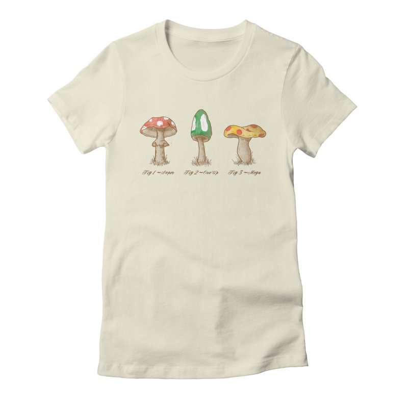 Mario Mycology Women's Fitted T-Shirt by Dianne Delahunty's Artist Shop