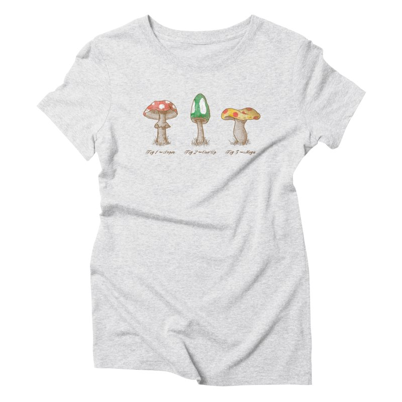 Mario Mycology Women's Triblend T-shirt by Dianne Delahunty's Artist Shop