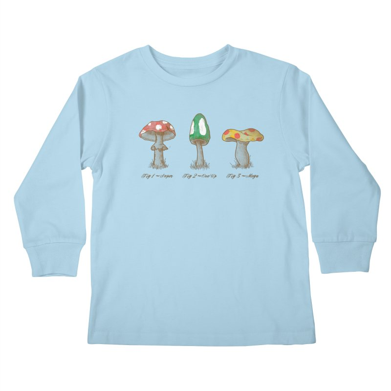 Mario Mycology Kids Longsleeve T-Shirt by Dianne Delahunty's Artist Shop