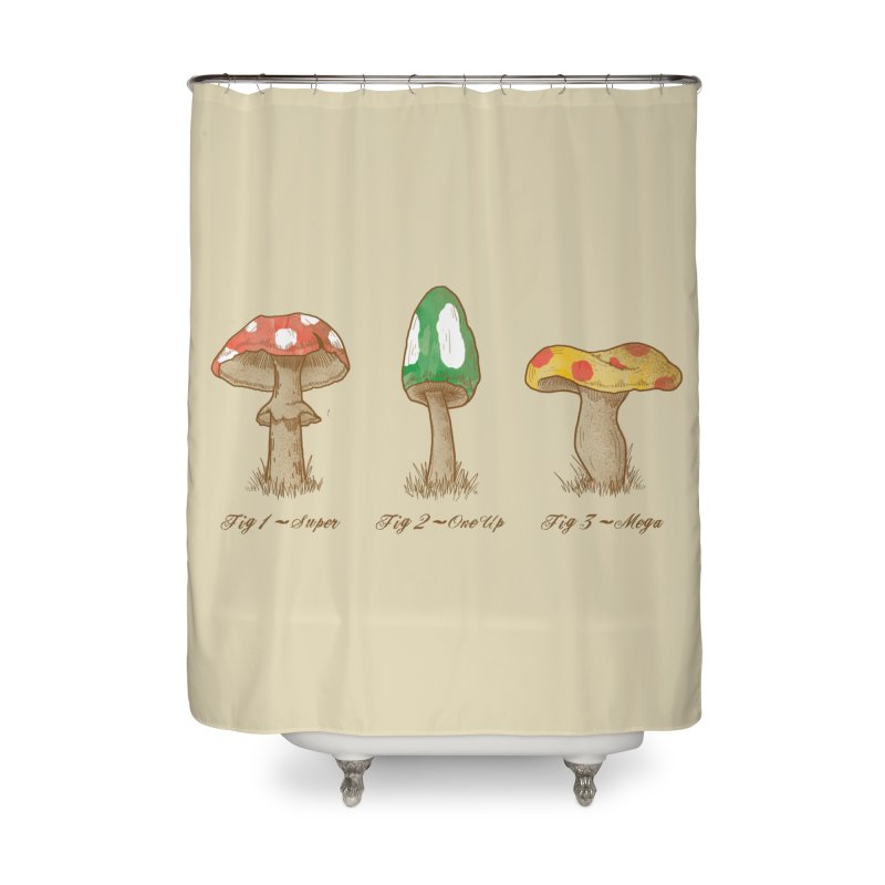 Mario Mycology Home Shower Curtain by Dianne Delahunty's Artist Shop
