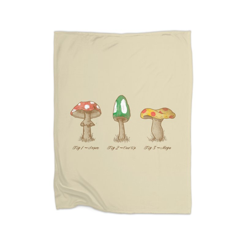 Mario Mycology Home Blanket by Dianne Delahunty's Artist Shop