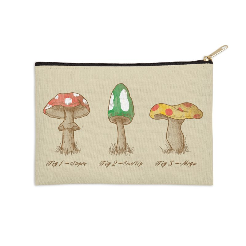 Mario Mycology Accessories Zip Pouch by Dianne Delahunty's Artist Shop