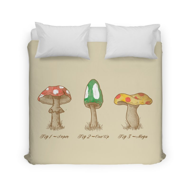 Mario Mycology Home Duvet by Dianne Delahunty's Artist Shop