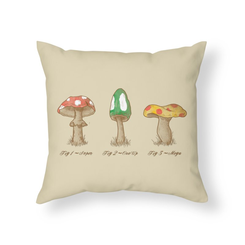 Mario Mycology Home Throw Pillow by Dianne Delahunty's Artist Shop
