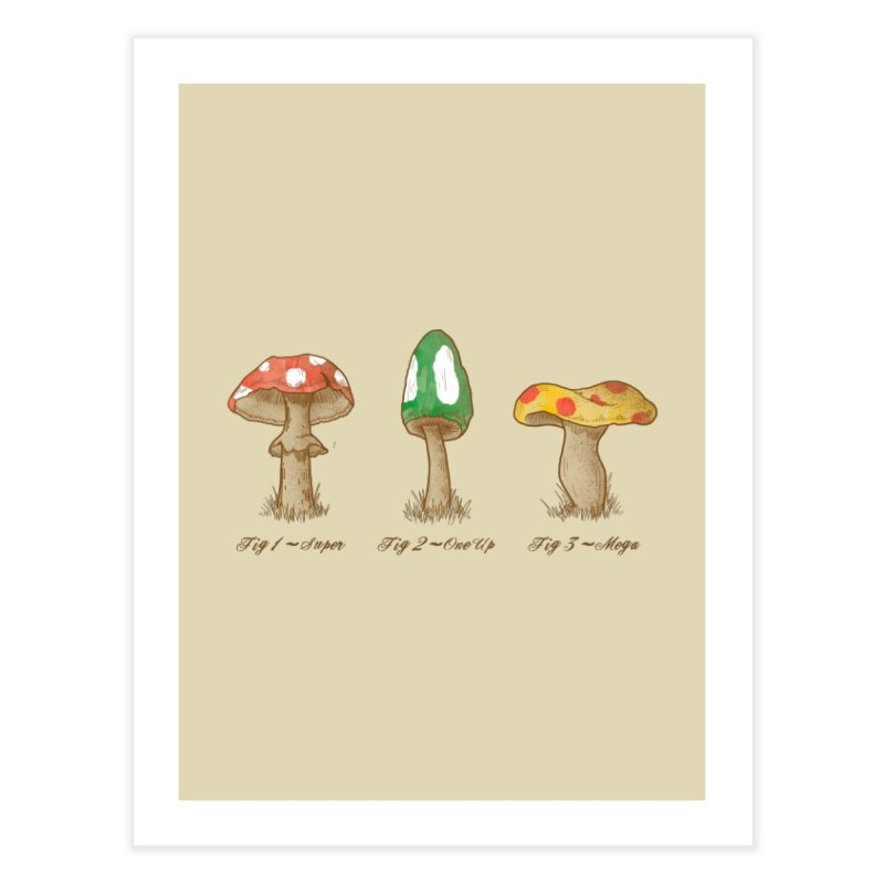 Mario Mycology Home Fine Art Print by Dianne Delahunty's Artist Shop