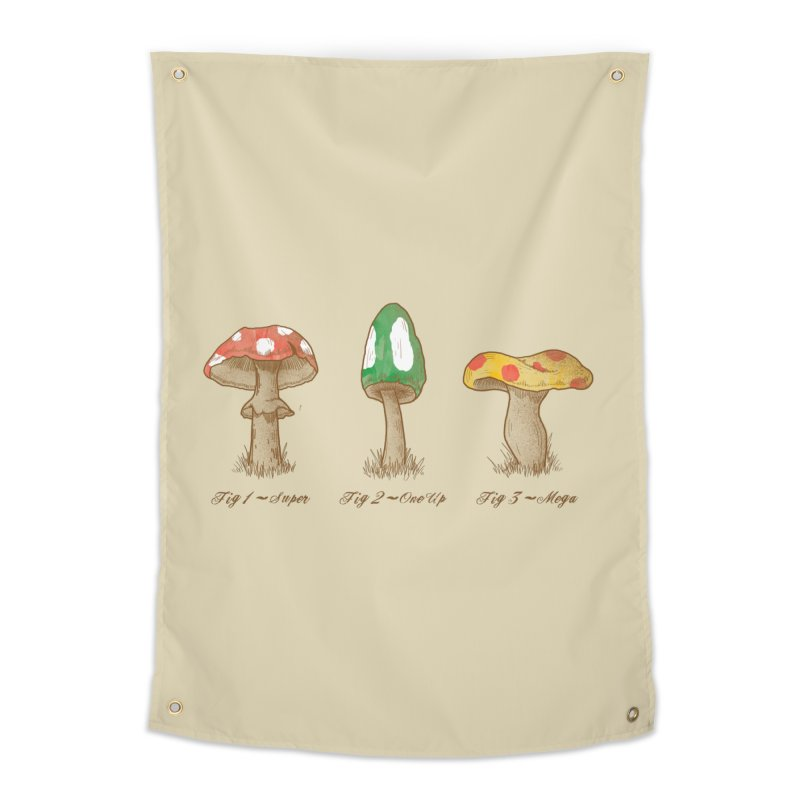 Mario Mycology Home Tapestry by Dianne Delahunty's Artist Shop