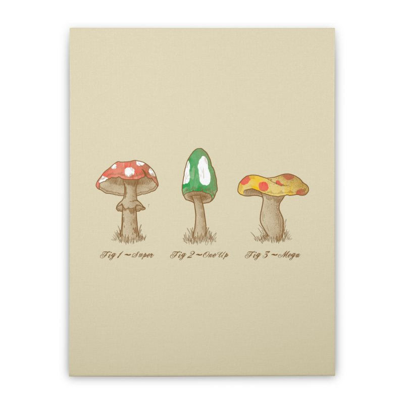 Mario Mycology Home Stretched Canvas by Dianne Delahunty's Artist Shop