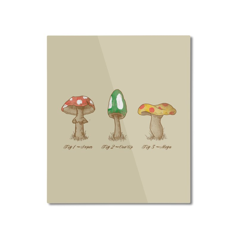 Mario Mycology Home Mounted Aluminum Print by Dianne Delahunty's Artist Shop