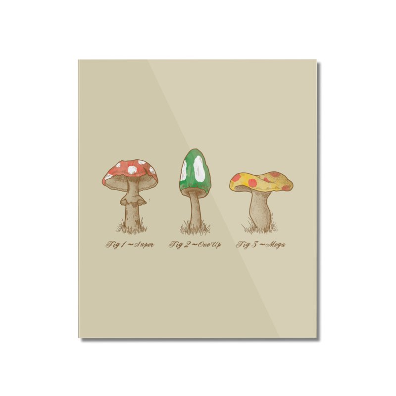 Mario Mycology Home Mounted Acrylic Print by Dianne Delahunty's Artist Shop