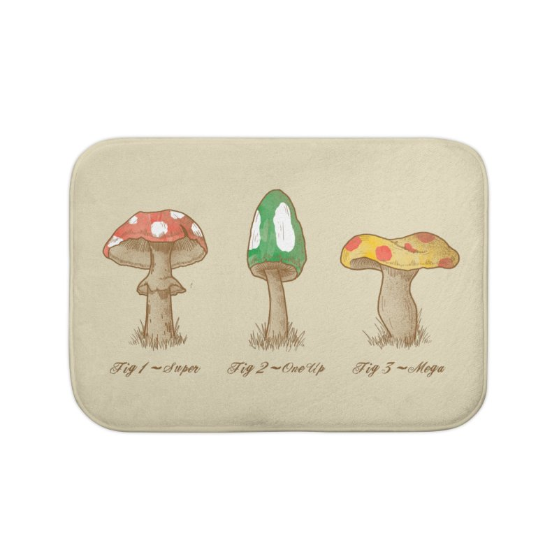 Mario Mycology Home Bath Mat by Dianne Delahunty's Artist Shop