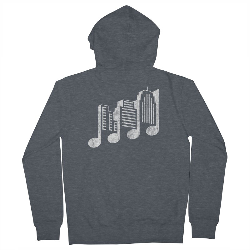 Melodicity Men's French Terry Zip-Up Hoody by Dianne Delahunty's Artist Shop