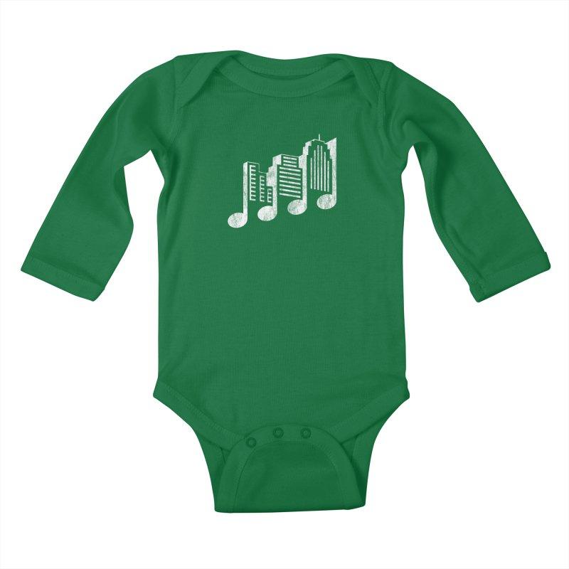Melodicity Kids Baby Longsleeve Bodysuit by Dianne Delahunty's Artist Shop