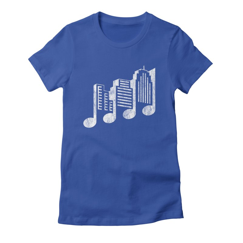 Melodicity Women's Fitted T-Shirt by Dianne Delahunty's Artist Shop