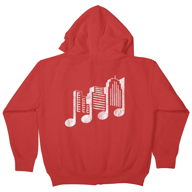 Melodicity Kids Zip-Up Hoody by Dianne Delahunty's Artist Shop