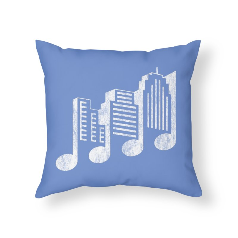 Melodicity Home Throw Pillow by Dianne Delahunty's Artist Shop