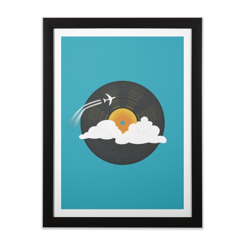 Sunburst Records Home Framed Fine Art Print by Dianne Delahunty's Artist Shop
