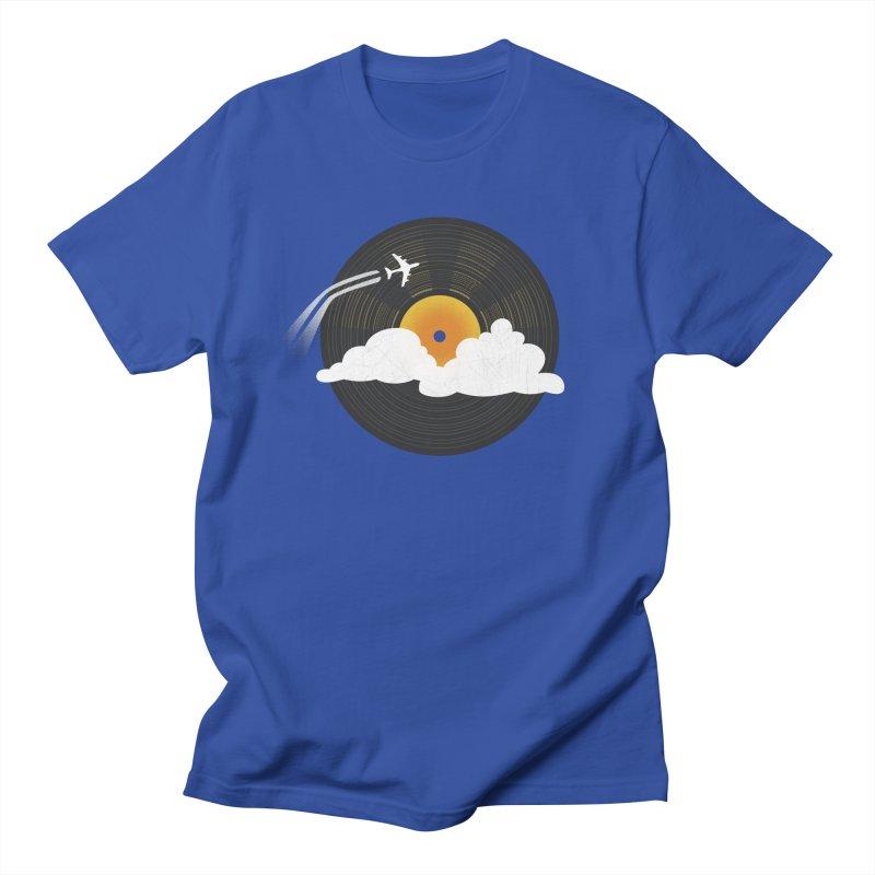 Sunburst Records Men's T-Shirt by Dianne Delahunty's Artist Shop