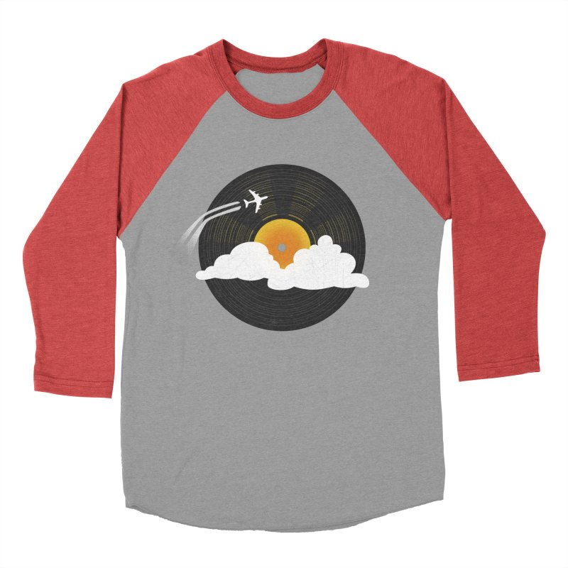Sunburst Records Men's Baseball Triblend Longsleeve T-Shirt by Dianne Delahunty's Artist Shop