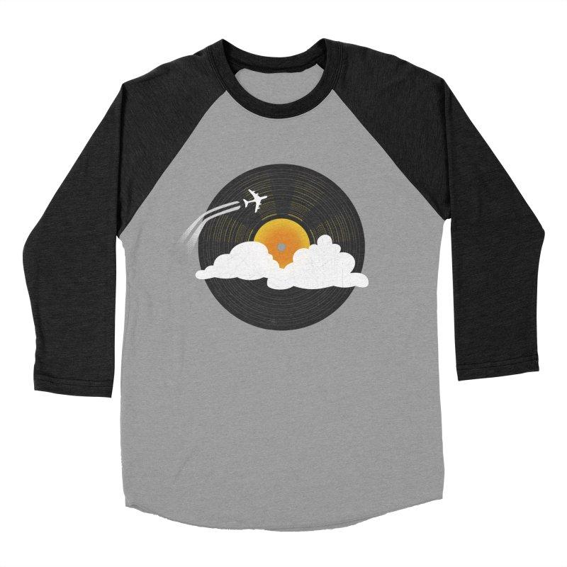 Sunburst Records Men's Baseball Triblend T-Shirt by Dianne Delahunty's Artist Shop