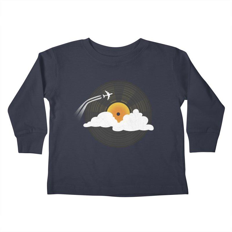 Sunburst Records Kids Toddler Longsleeve T-Shirt by Dianne Delahunty's Artist Shop