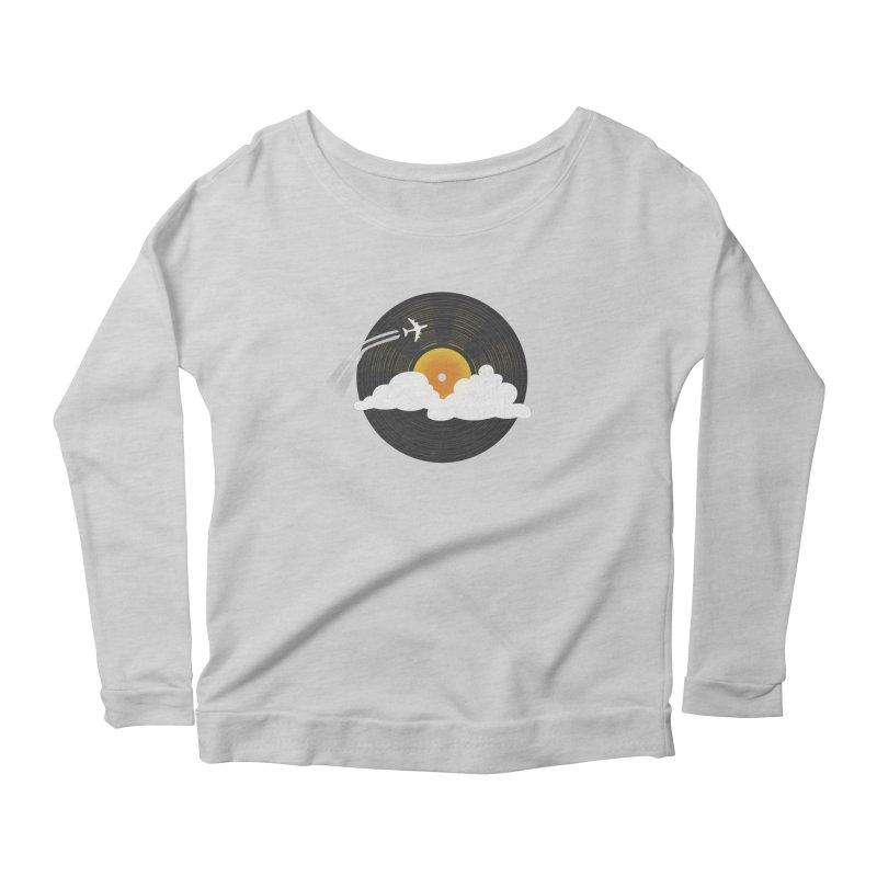 Sunburst Records Women's Scoop Neck Longsleeve T-Shirt by Dianne Delahunty's Artist Shop