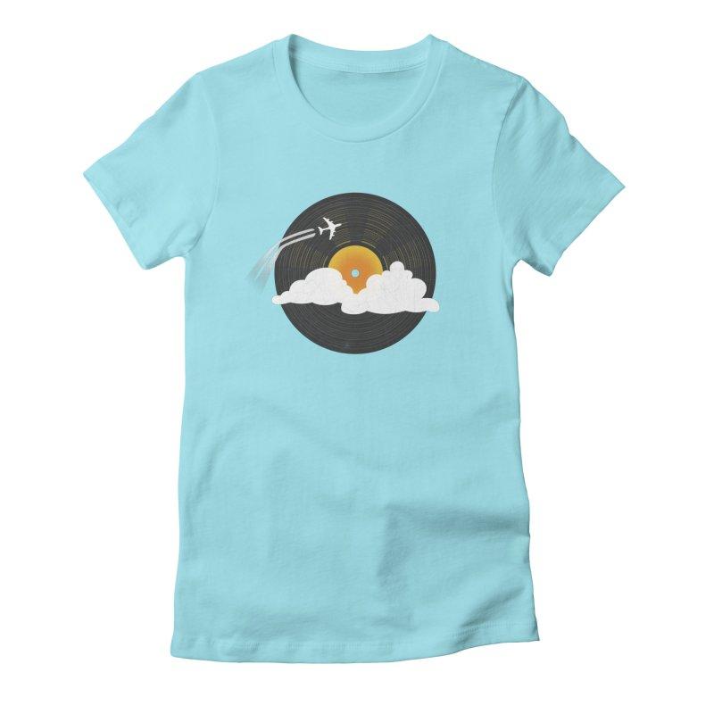 Sunburst Records Women's T-Shirt by Dianne Delahunty's Artist Shop