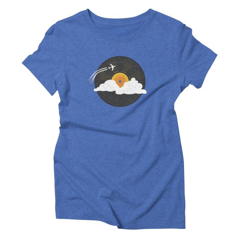 Sunburst Records Women's Triblend T-shirt by Dianne Delahunty's Artist Shop