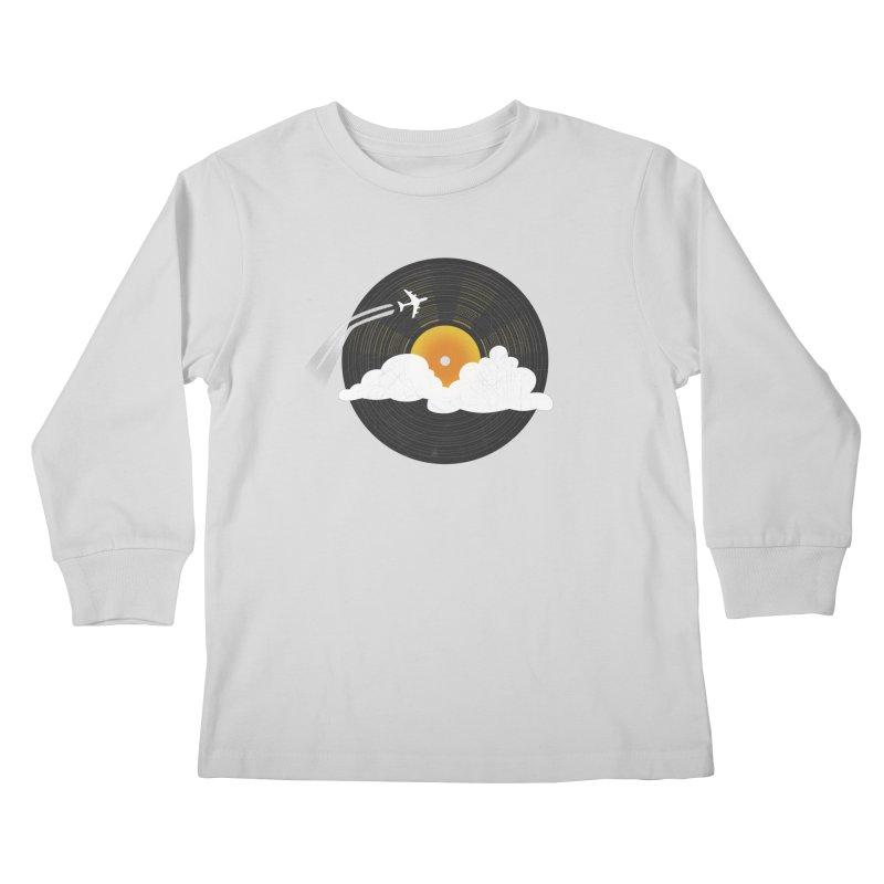 Sunburst Records Kids Longsleeve T-Shirt by Dianne Delahunty's Artist Shop