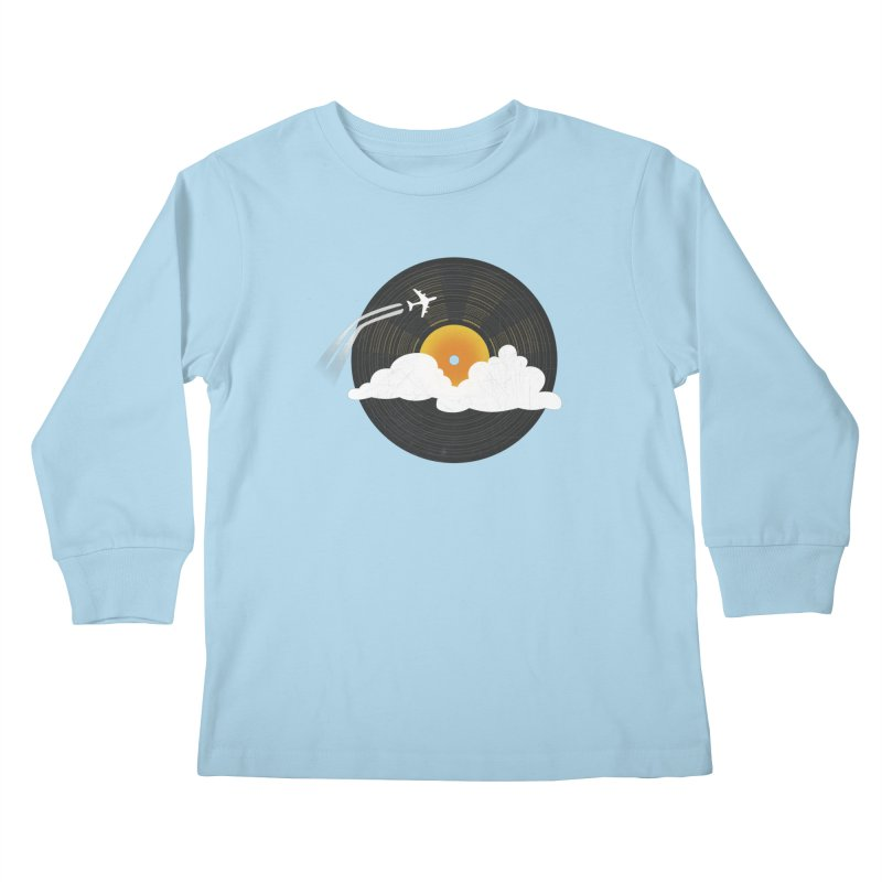 Sunburst Records Kids Longsleeve T-Shirt by Dianne Delahunty's Artist Shop