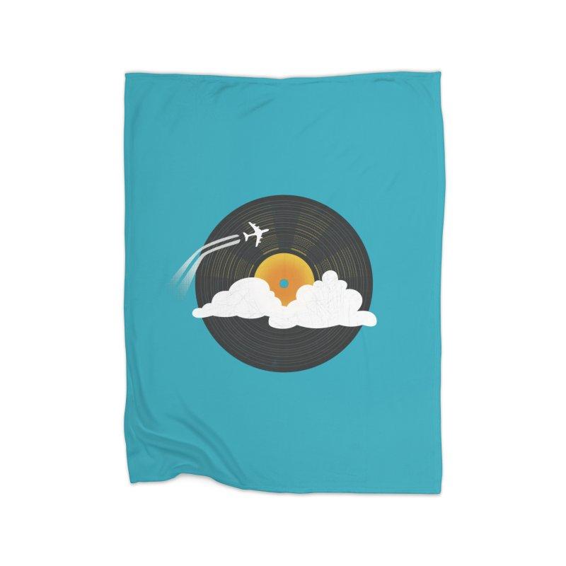 Sunburst Records Home Blanket by Dianne Delahunty's Artist Shop