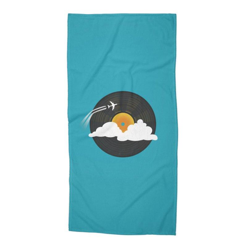 Sunburst Records Accessories Beach Towel by Dianne Delahunty's Artist Shop